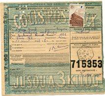 FRANCE BULLETIN D'EXPEDITION D'UN COLIS POSTAL AVEC OBLITERATION LESCURE 21-4-43 AVEYRON - Cartas