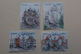 FRANCE 2018     TALLIN  Capitales Europeennes (4 Timbres)   Beaux  Cachets  Ronds Sur TN - France