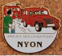 TINTIN - AMICALE DES CHAUFFEURS NYON - CANTON DE VAUD - CASE 1 - PAGE 27-L'AFFAIRE TOURNESOL- POMPIERS - HERGE - (ROSE) - Comics