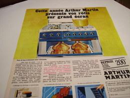 ANCIENNE AFFICHE PUBLICITE ROTIS SUR GRAND ECRAN  AVEC ARTHUR MARTIN 1967 - Autres