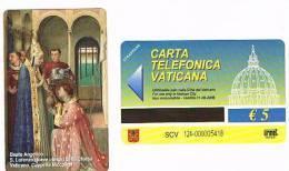 VATICANO-VATICAN-VATICAN CITY  CAT. C&C    6124 - S.LORENZO RICEVE I TESORI DELLA CHIESA. BEATO ANGELICO - Vatican