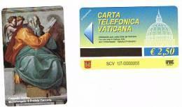 VATICANO-VATICAN-VATICAN CITY  CAT. C&C     6137  - IL PROFETA ZACCARIA. MICHELANGELO - Vatican