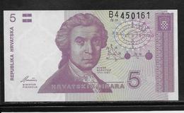 Croatie - 5 Dinara - Pick N°17 - NEUF - Kroatien