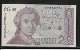 Croatie - 25 Dinara - Pick N°19 - NEUF - Kroatien