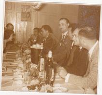 Ancienne Photo Sépia / Chaumont (52) / On Change De Président (Repas) / Fin Années 50 - Orte