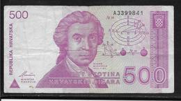Croatie - 500 Dinara - Pick N°21 - TB - Kroatien