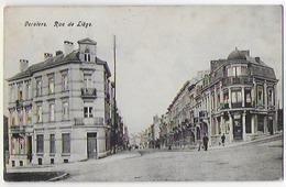 Cpa Bon Etat , Belgique  Liège  Verviers , Rue De Liège , Timbre Courrier Verso , Carte Rare ,  Verso Traces Rouille... - Verviers
