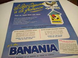 ANCIENNE PUBLICITE PETIT DEJEUNER A LA FRANCAISE BANANIA 1964 - Plaques Publicitaires