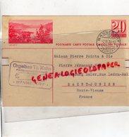 SUISSE - ZURICH-MANNEDORF-VEVEY LETTRE ORGELBAU TH. KUHN-AKTIENGESELFSCHAFT- PIERRE POINTU-PERUCAUD-SAINT JUNIEN-1936 - Switzerland