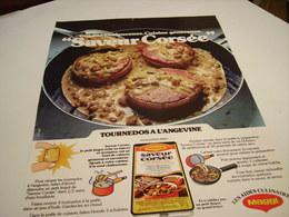 ANCIENNE AFFICHE  PUBLICITE SAVEUR CORSE   DE  MAGGI 1980 - Posters