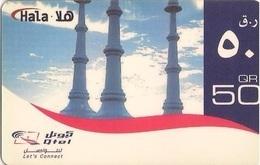 Qatar Q-Tel Hala Phone Card, Perfume Spray Monument, (50 Rls.) - Qatar