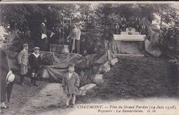52--CHAUMONT---fête Du Grand Pardon ( 24 Juin 1928 )  Reposoir: La Samaritaine--( Sortie Dépliant )--voir 2 Scans - Chaumont