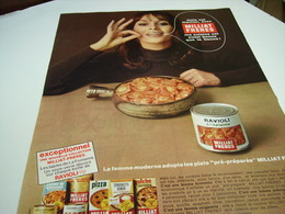 ANCIENNE AFFICHE PUBLICITE RAVIOLI DE MILLIAT FRERES 1967 - Posters