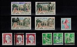 Algerie - Collection De 11 Surcharges EA Etat Algeriens , Tous N** MNH - Algeria (1962-...)