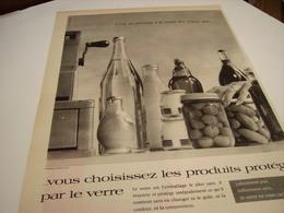 ANCIENNE AFFICHE PUBLICITE LE VERRE PRODUIT PROTEGE 1959 - Posters