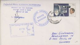 South Africa 1979 Paquebot Marion Dufresne Ca 16 VIII 79 Signature  (38435) - Poolshepen & Ijsbrekers