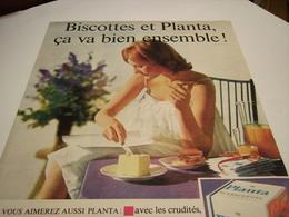 ANCIENNE AFFICHE  PUBLICITE  MARGARINE PLANTA  1960 - Posters