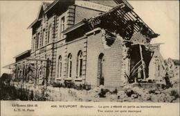 BELGIQUE - NIEUPORT - Ruines - Guerre 14-18 - Gare - Nieuwpoort