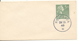Sweden Small Cover Röstanga 2925 1945 - Sweden