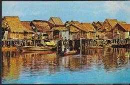 SINGAPORE - PALAFITTE SUL FIUME  - VIAGGIATA  1967 FRANCOBOLLO ASPORTATO - Singapore