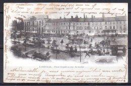 54-Lunéville, Place Léopold Un Jour De Marché - Luneville