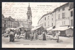 54-Lunéville, Place Et église Saint-Jacques - Luneville