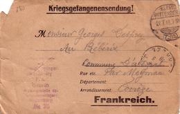 C  12786 - CARTE LETTRE Envoyé De WITTENBERG En 1918 - - France