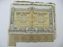 2 X Actions - Société Hellénique De Vins Et Spiritueux - ATHENES, 1924 - Agriculture