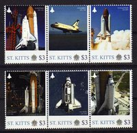 St Kitts With Columbia,Discovery,Challenger And More 2011 Mnh.Space Item. - Space