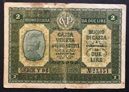 Cassa Veneta Dei Prestiti 2 Lire 1918 LOTTO 1739 - Unclassified