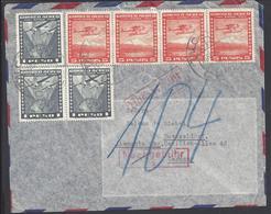 CHILI - 1954 - Affranchissement Aéréo à 23 Pesos Sur Enveloppe Par Avion, De Talcahuano Pour Dusseldorf (ALL) - B/TB - - Chile