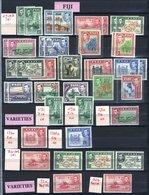 BRITISH COMMONWEALTH KGVI M Range From British Guiana 1938-52 Set Incl. Perf Variations, British Honduras 1938 Set, Fiji - Timbres