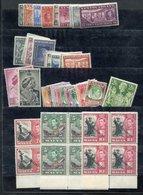 KING GEORGE VI M Or UM Range Incl. Aden 1939 Defin Set UM, Ascension 1938 Defin Set M Incl. P.13 & P.14 Variations Fine  - Francobolli