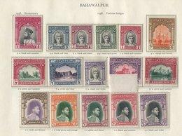 BAHAWALPUR 1948-49 Incl. 1948 Set Of Fourteen M, 1949 UPU, Various Officials Etc. UM - Odd Stamp Toned Etc. (55) Cat. £3 - Non Classés