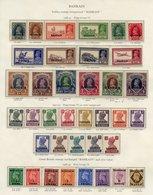 BAHRAIN 1938-49 Incl. 1938-41 Set UM (some Gum Disturbance & Toning) The 15r Inverted Wmk 1942-45 Set UM, 1938-49 Set. ( - Non Classés
