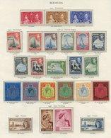 BERMUDA 1937-49 Incl. 1938 Defin Set UM (extra 10s (SG.119) Heavily Toned Gum) Odd Lower Value Toned, 1948 Wedding UM Et - Non Classés