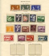 BRITISH GUIANA 1938 Set UM. BRITISH HONDURAS 1938 Set UM. SOLOMON ISLANDS 1939 Set UM (gum Toned), 1940 Dues (toned Gum) - Non Classés