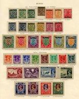 BURMA 1937-46 Complete Incl. Officials Incl. 1937 Set, 1938 Set, 1945 BMA Set, 1946 Civil Admin, 1947 Interim Set. OFFIC - Non Classés