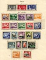 CYPRUS 1937-49 Complete UM (lightly Toned Gum) Incl. 1938 Set Plus Extras 1p P.13½ X 12½ & 2p P.12½ X 13½ (SG.154a & 155 - Non Classés