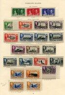 FALKLAND ISLANDS 1937 Coronation Set UM, 1938-49 Defin Set (lightly Toned Gum), Also Extra 5s Shades SG.161d & 161b (bot - Non Classés