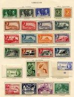 GAMBIA 1937 Set, 1938-46 Set, 1946 Victory & 1949 UPU Sets (lightly Toned Gum). GIBRALTAR Complete Incl. 1938-51 Set M ( - Non Classés