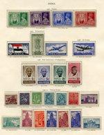 INDIA 1937-49 Complete Incl. 1937 Set UM (some Light Toning), 1940-43 Set UM, 1949 UPU (toning), 1948 Gandhi Independenc - Non Classés