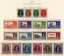 JIND 1937-38 Defin Set UM, SG.109/26. (18) Cat. £1300 - Non Classés