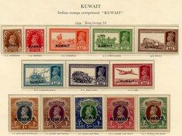 KUWAIT 1939 Defin Set UM (gum Toned), 1949 UPU Set UM. (17) Cat. £375 - Non Classés