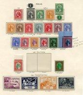 MALAYA (PERAK) 1938-41 Set UM (either Gum Toned Or Disturbed Gum), 1949 UPU Set UM, 1950 Set UM. PERLIS 1949 UPU & 1951- - Non Classés