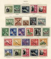 MALDIVE ISLANDS 1950 Set UM. MALTA 1937-49 Complete UM Incl. 1938 Defins, 1948 New Constitution Set, 1948 Wedding Etc. M - Non Classés