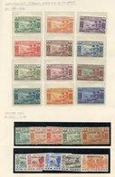 NEW HEBRIDES 1938 Defin Set UM, 1949 UPU UM, 1938 & 1953 Postage Due Sets UM, French 1938 Set UM (odd Minor Tone). Cat.  - Non Classés