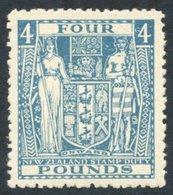 NEW ZEALAND 1952 Arms £4 Light Blue Wmk Inverted UM (gum Toned), SG.F210. Cat. £350 - Non Classés