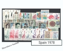 Complete Year Set Spain 1978 - 57 Values - Yv. 2096-2153 / Ed. 2451-2507, MNH - Años Completos