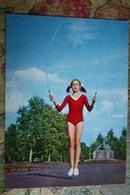 "CHILDREN IN SOVIET PROPAGANDA. ""HAPPY CHILDHOOD"" - Jump Rope - Old USSR PC Little Girl / Fillette / Fille - Groupes D'enfants & Familles"